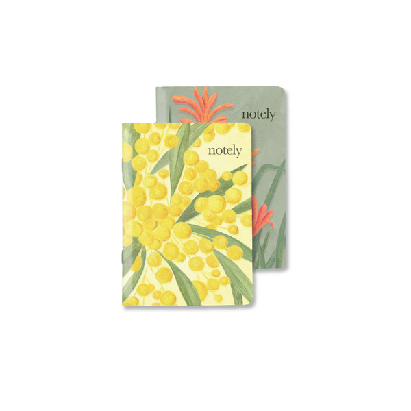Australian Natives – A6 Pocket Notebook (Set of 2) by NOTELY