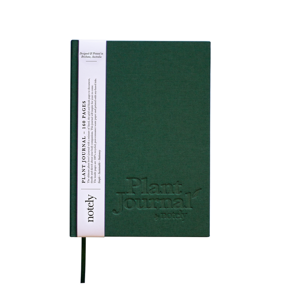Plant Journal in Forest Green by NOTELY