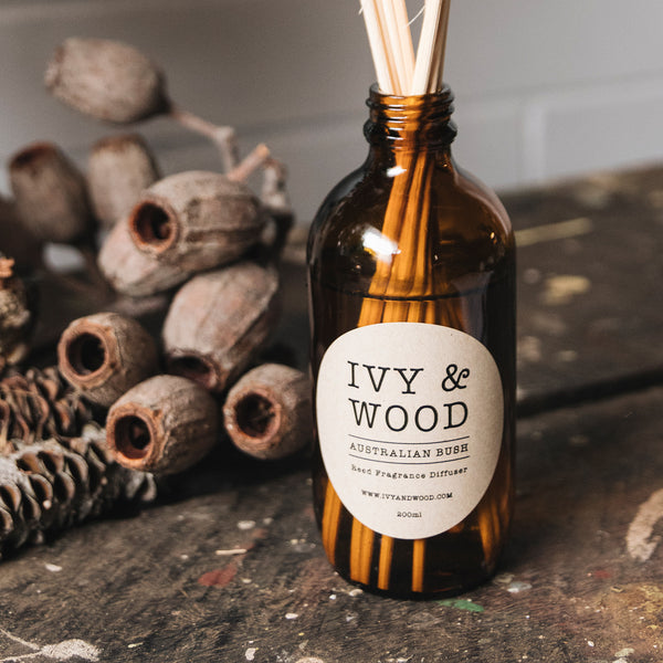 Australian Bush Reed Diffuser - Ivy & Wood - Australian Made