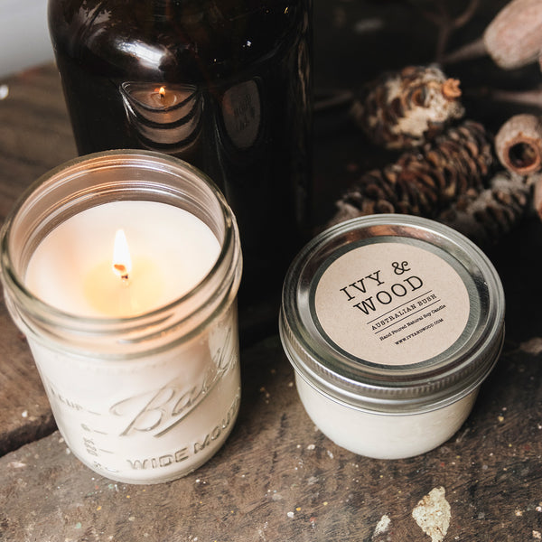 Australian Bush Mason Jar Soy Candle - Ivy & Wood - Australian Made