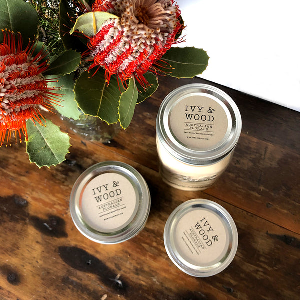 NEW! Limited Edition: Australian Florals Mason Jar Soy Candle