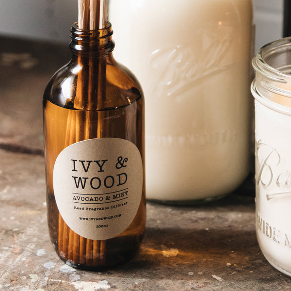 Avocado & Mint Reed Diffuser - Ivy & Wood - Australian Made
