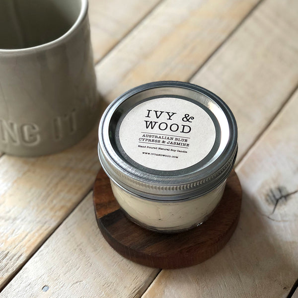 Limited Edition: Australian Blue Cypress & Jasmine Mason Jar Soy Candle