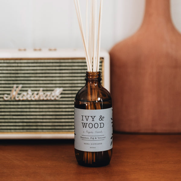 Botanical: Bamboo, Fig & Vetiver Reed Diffuser - Ivy & Wood - Australian Made