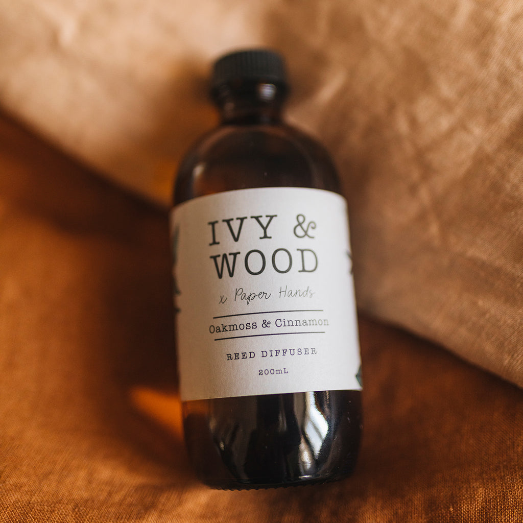 Botanical: Oakmoss & Cinnamon Reed Diffuser - Ivy & Wood - Australian Made