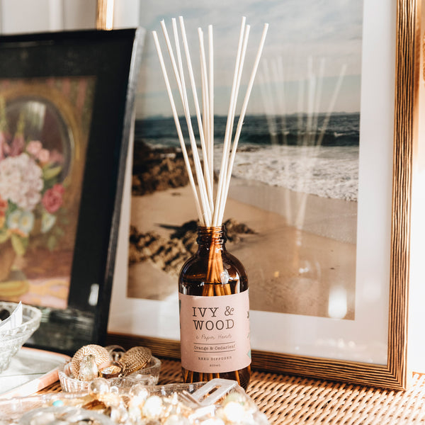 Botanical: Orange & Cedarleaf Reed Diffuser - Ivy & Wood - Australian Made
