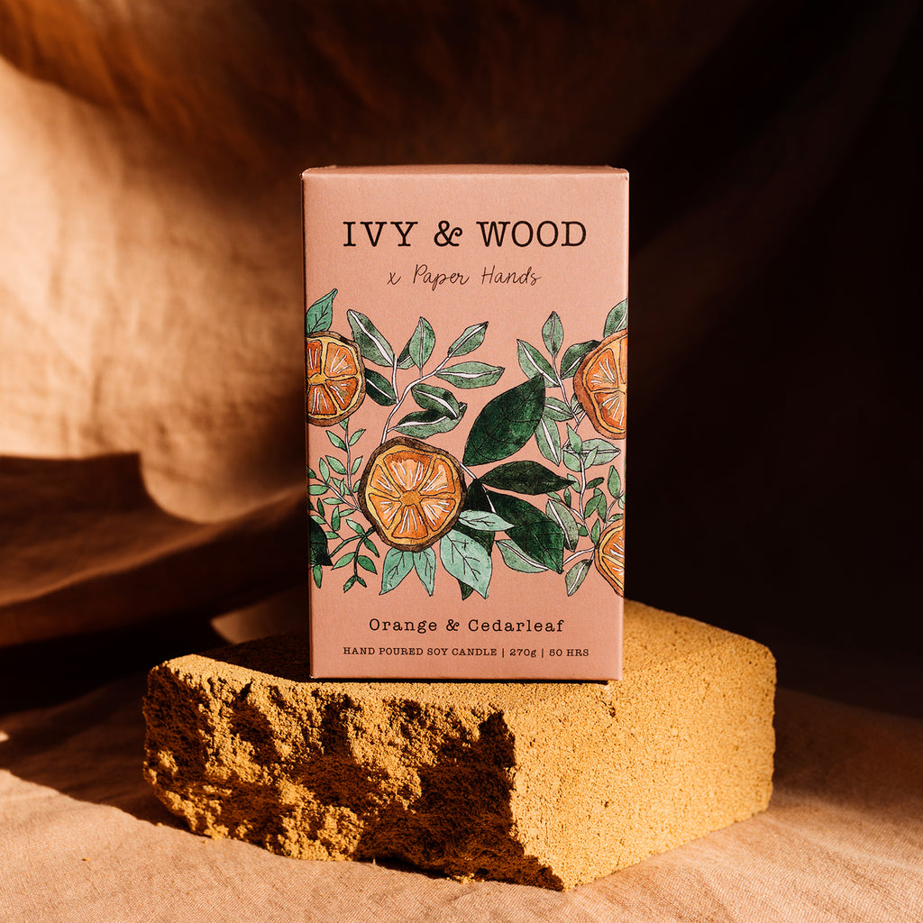 Botanical: Orange & Cedarleaf Soy Candle - Ivy & Wood - Australian Made