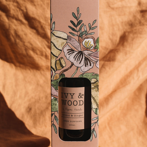 Botanical: Orchid & Ginger Reed Diffuser - Ivy & Wood - Australian Made