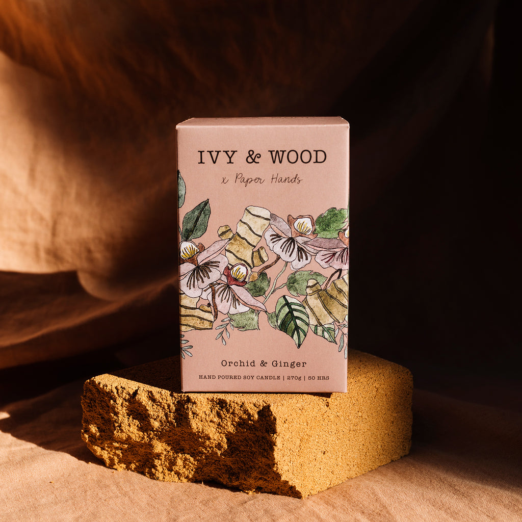 Botanical: Orchid & Ginger Soy Candle - Ivy & Wood - Australian Made