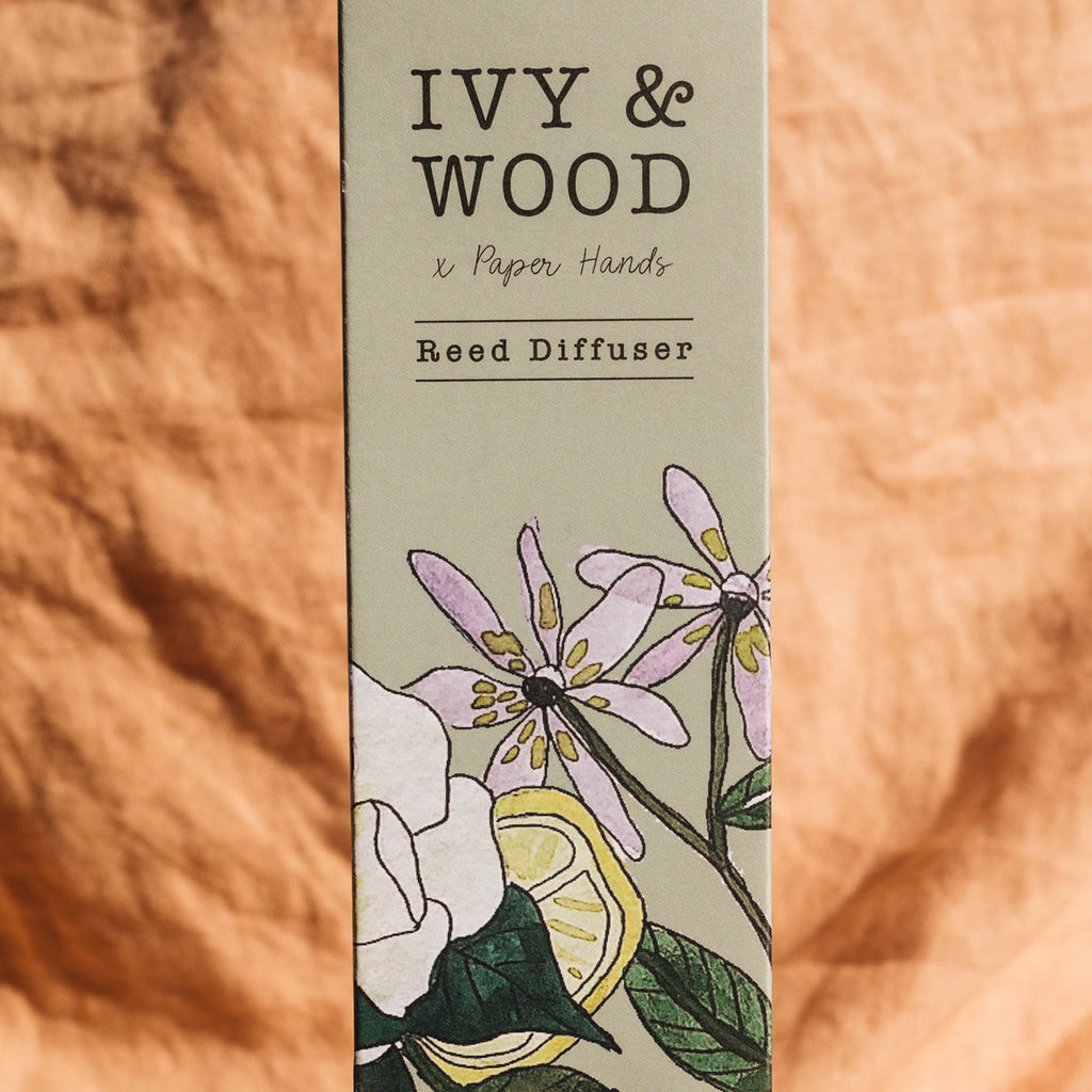 Botanical: Yuzu & Patchouli Reed Diffuser - Ivy & Wood - Australian Made