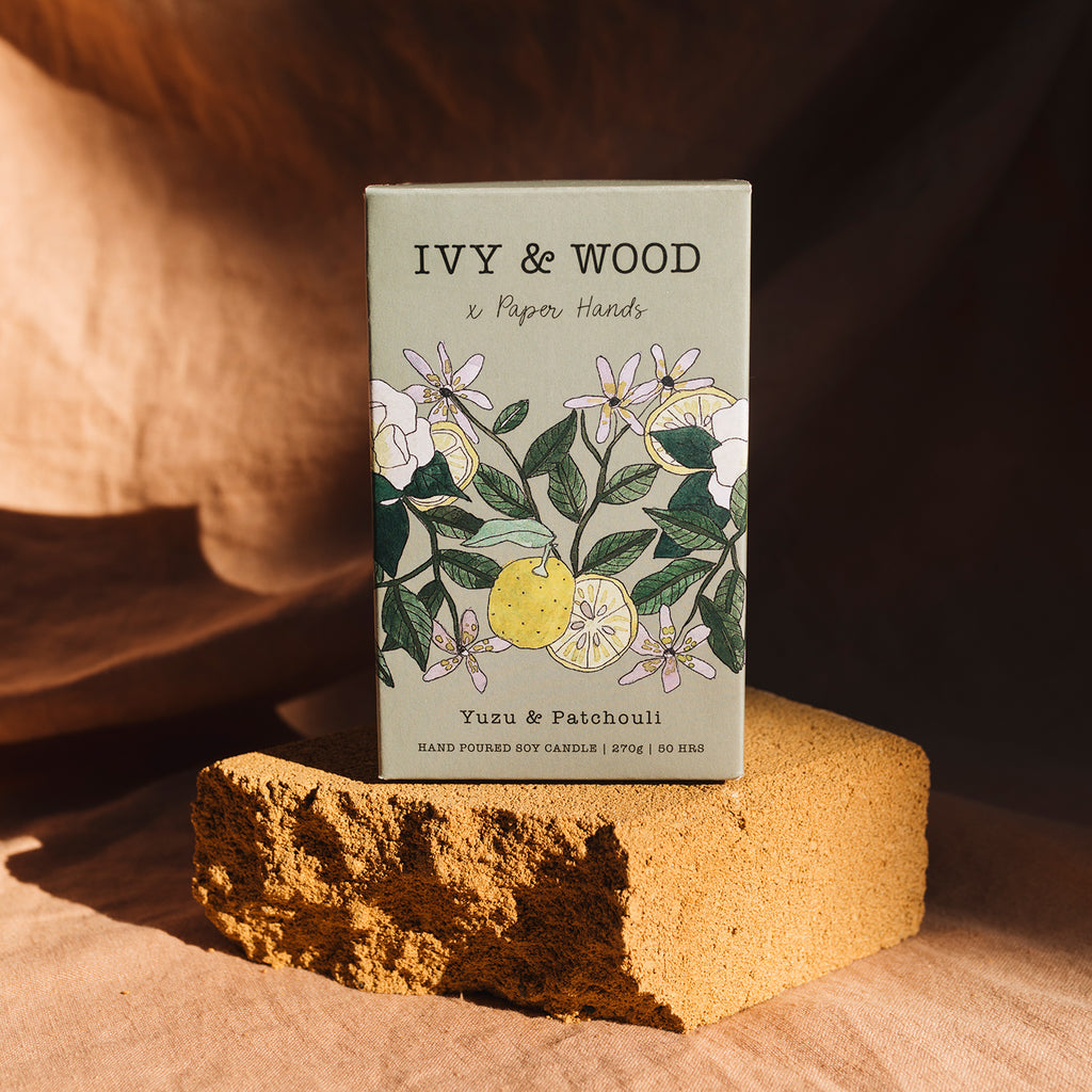 Botanical: Yuzu & Patchouli Soy Candle - Ivy & Wood - Australian Made