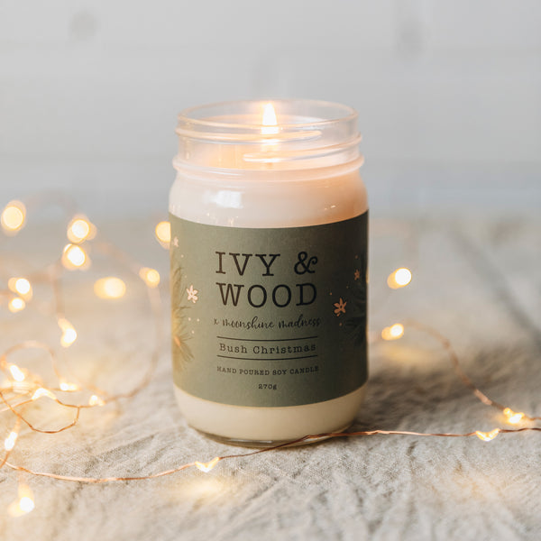 Bush Christmas Limited Edition Mason Jar Soy Candle