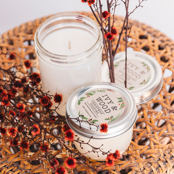 Christmas Pudding: Limited Edition Mason Jar Soy Candle - Ivy & Wood - Australian Made