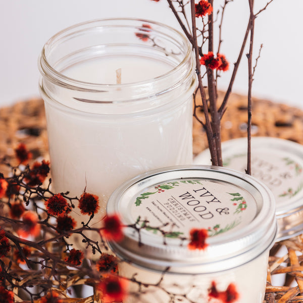 Pine Needle: Christmas Limited Edition Mason Jar Soy Candle