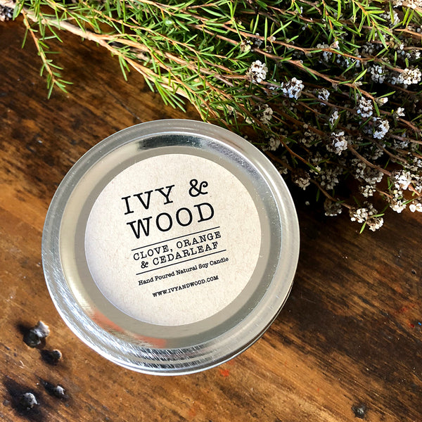 Limited Edition: Clove, Orange & Cedarleaf Mason Jar Soy Candle