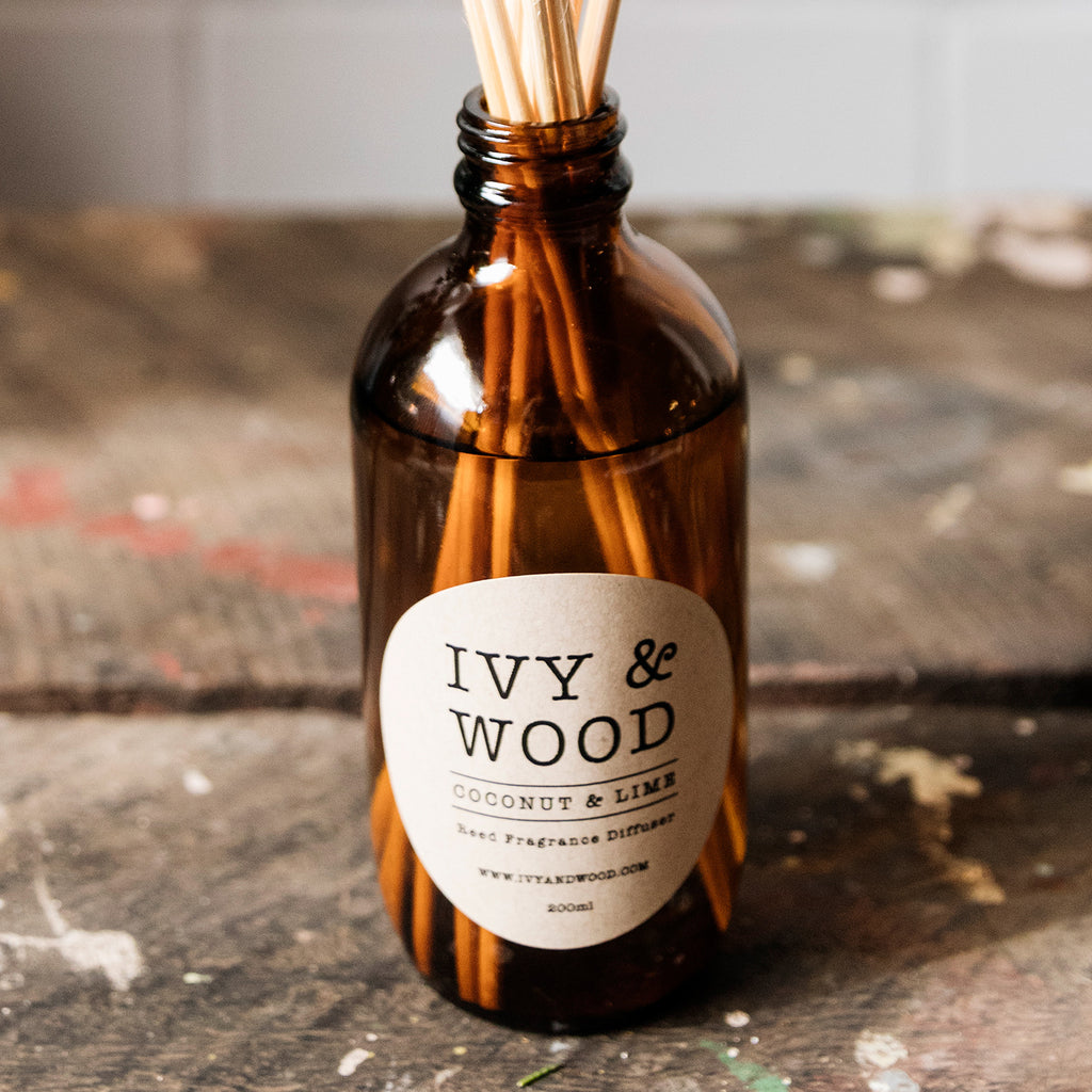 Coconut & Lime Reed Diffuser - Ivy & Wood - Australian Made