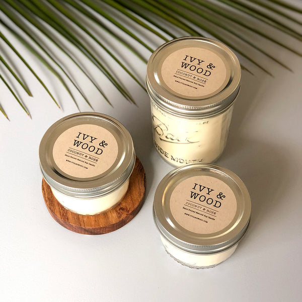 NEW! Limited Edition: Coconut & Rose Mason Jar Soy Candle