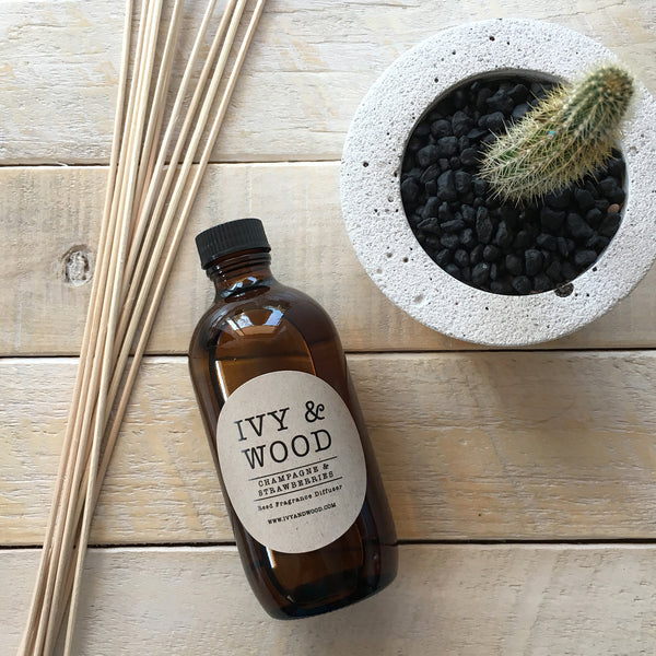 Coconut & Lemongrass Reed Diffuser - Ivy & Wood - Australian Made