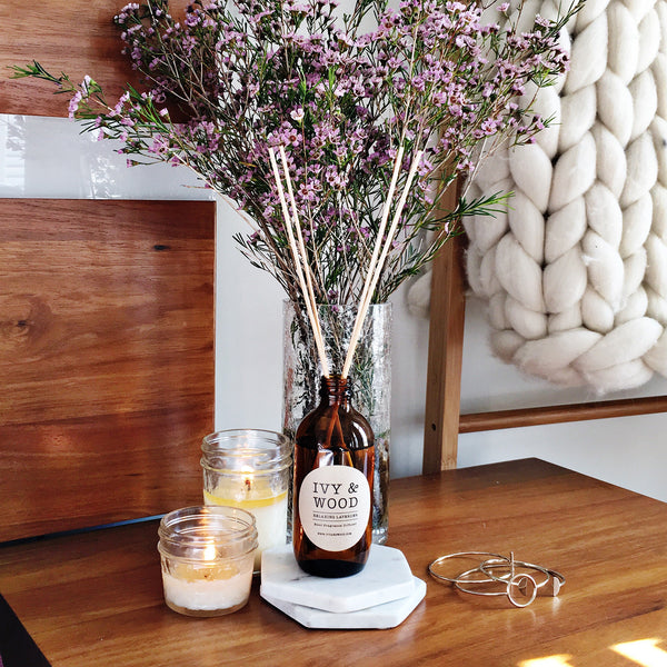 Pure Essential Oil Reed Diffuser - Ivy & Wood - Australian Made