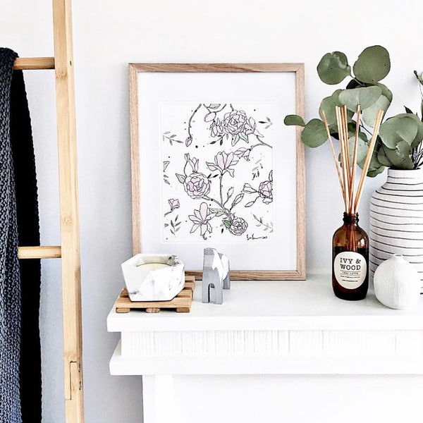 Australian Florals Reed Diffuser - Ivy & Wood - Australian Made
