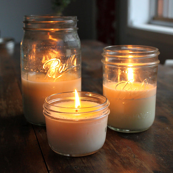 Unscented Mason Jar Soy Candle