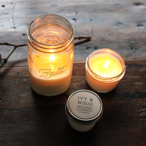 Uplifting Blend Mason Jar Soy Candle - Ivy & Wood - Australian Made
