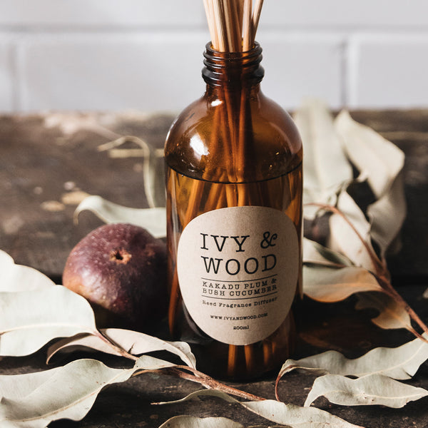 Kakadu Plum & Bush Cucumber Scented Reed Diffuser by Ivy & Wood Australia