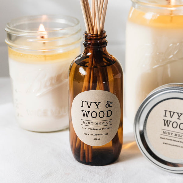 Mint Mojito Scented Reed Diffuser - Ivy & Wood Australia