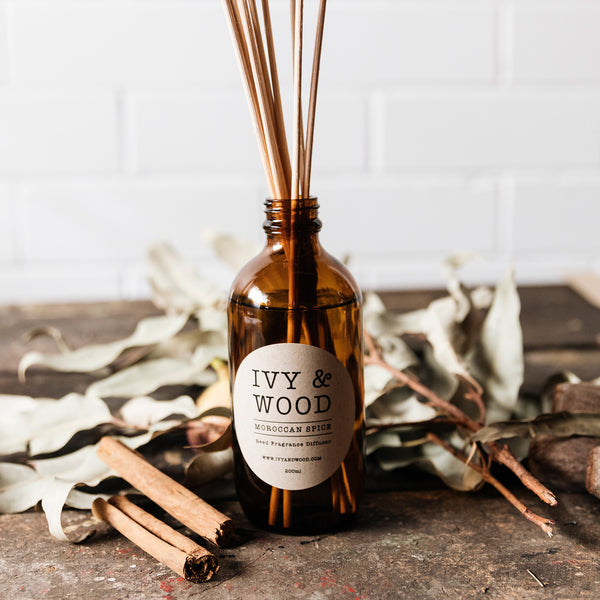 Moroccan Spice Scented Reed Diffuser - Ivy & Wood Australia