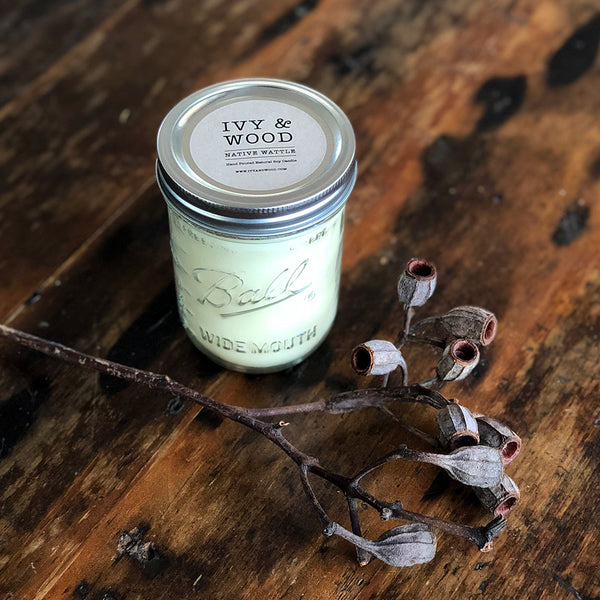 NEW! Limited Edition: Native Wattle Mason Jar Soy Candle