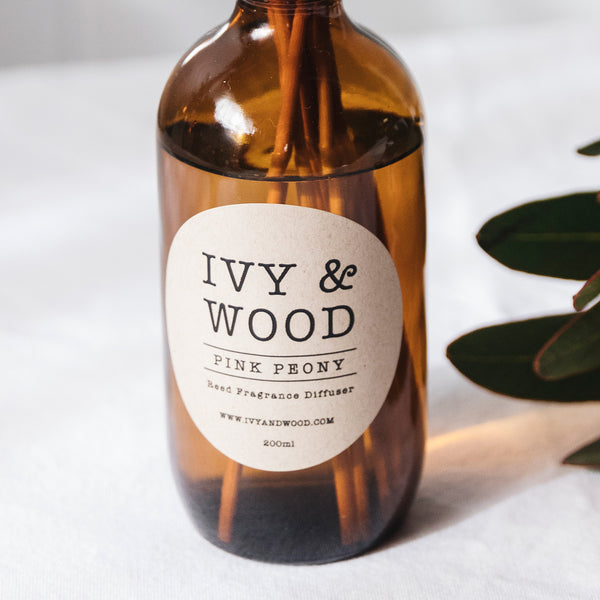 Pink Peony Reed Diffuser - Ivy & Wood - Australian Made