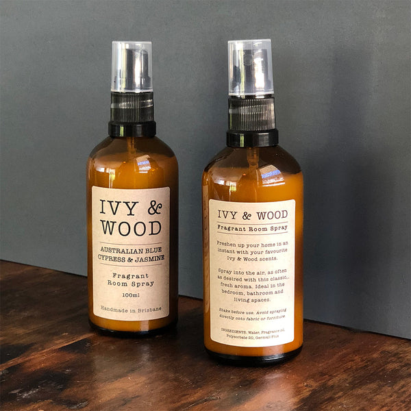 Australian Blue Cypress & Jasmine Room Spray - Ivy & Wood - Australian Made