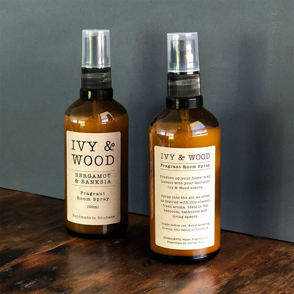 Bergamot & Banksia Room Spray - Ivy & Wood - Australian Made