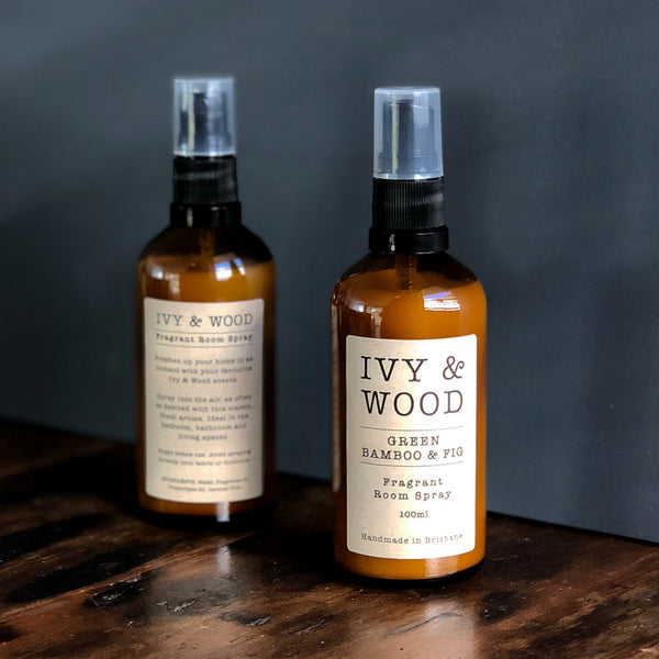 Green Bamboo & Fig Room Spray - Ivy & Wood - Australian Made