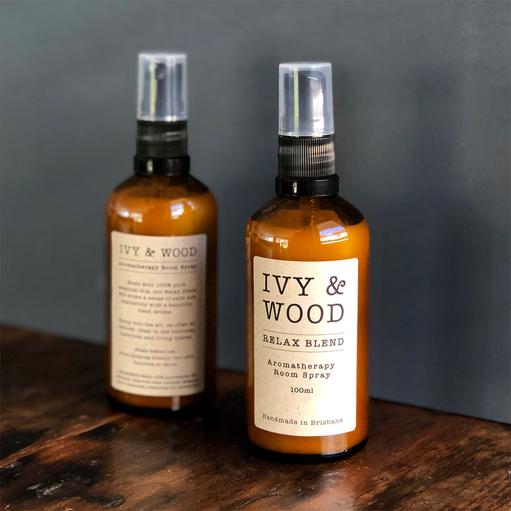 Relax Blend Pure Essential Oil Room Spray - Ivy & Wood - Australian Made