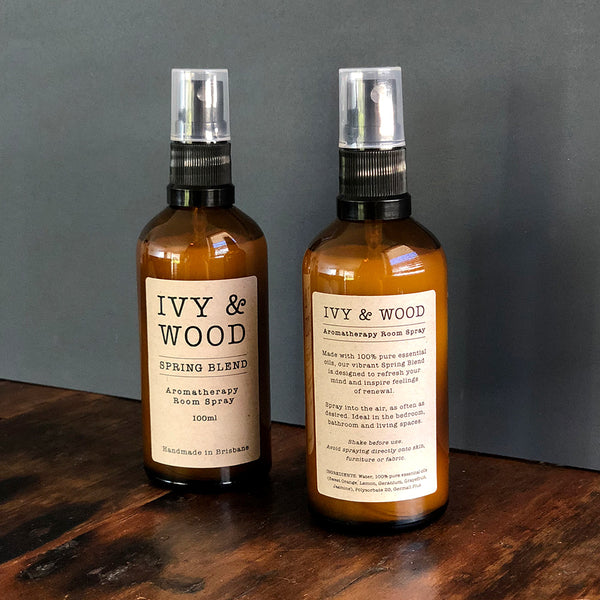 Spring Blend Pure Essential Oil Room Spray - Ivy & Wood - Australian Made