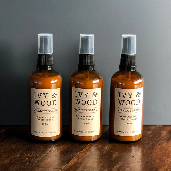 Vitality Blend Pure Essential Oil Room Spray - Ivy & Wood - Australian Made