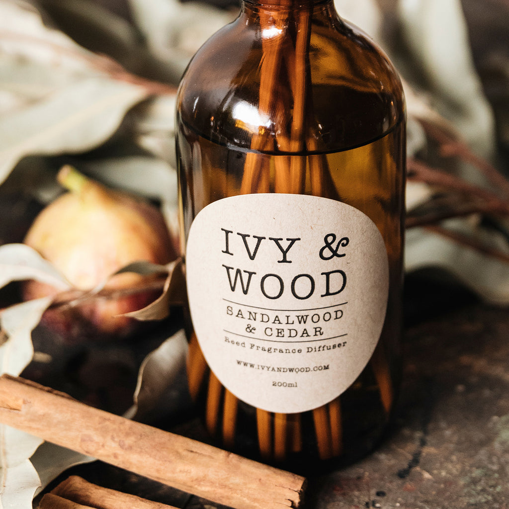 Sandalwood & Cedar Reed Diffuser - Ivy & Wood - Australian Made