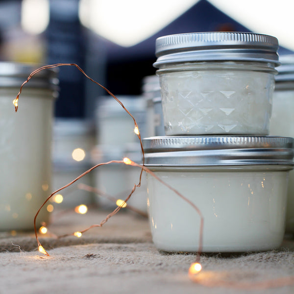 Unscented Mason Jar Soy Candle - Ivy & Wood - Australian Made