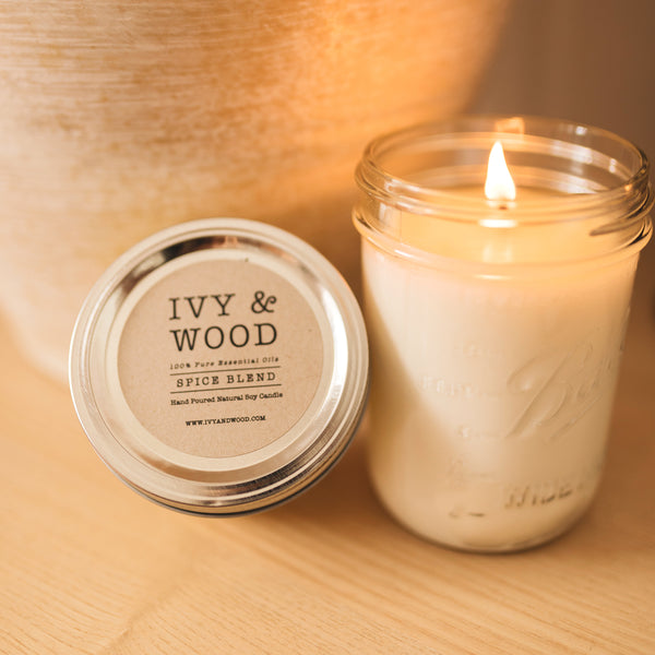 Spice Blend Pure Essential Oil Soy Candle - Ivy & Wood - Australian Made