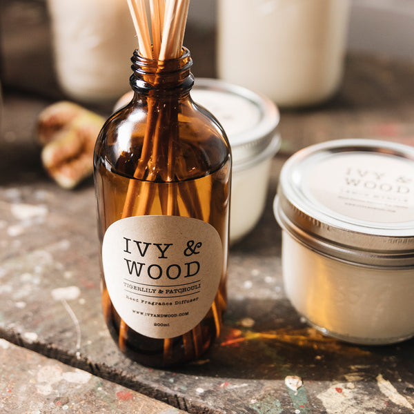Tigerlily & Patchouli Reed Diffuser - Ivy & Wood - Australian Made