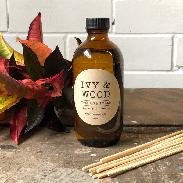 Limited Edition: Tobacco & Amber Reed Diffuser - Ivy & Wood - Australian Made