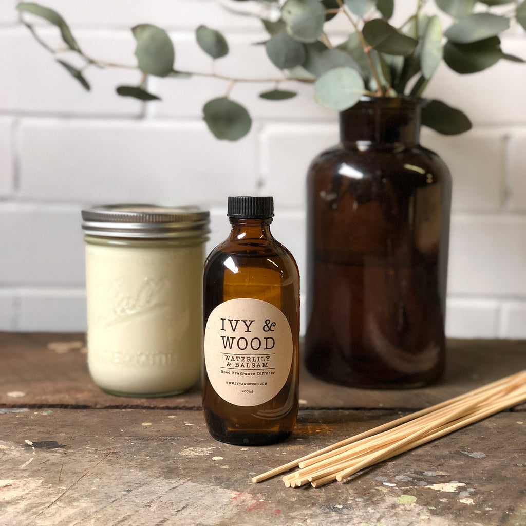 Limited Edition: Waterlily & Balsam Reed Diffuser - Ivy & Wood - Australian Made