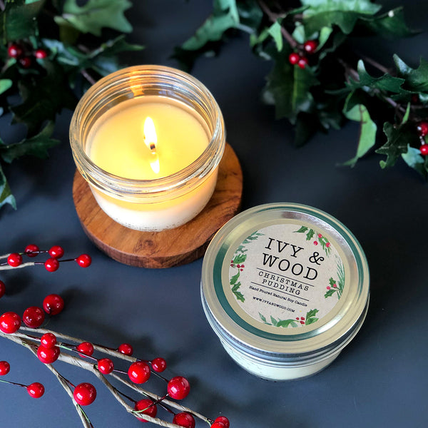 Christmas Pudding: Limited Edition Mason Jar Soy Candle