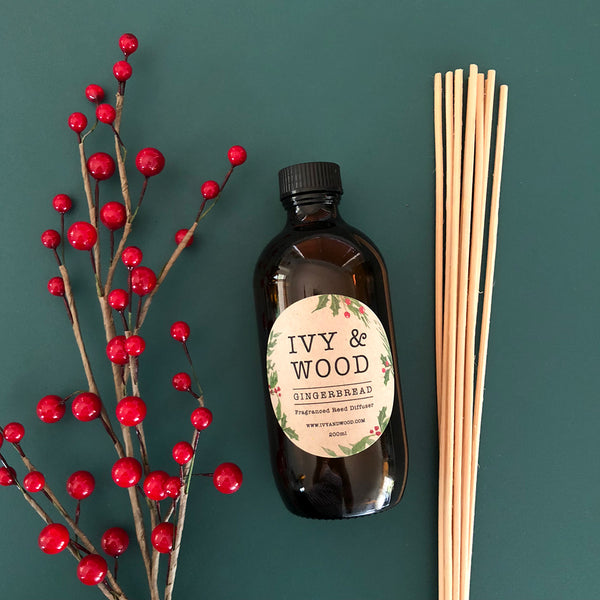 Gingerbread Limited Edition Reed Diffuser - Ivy & Wood - Australian Made