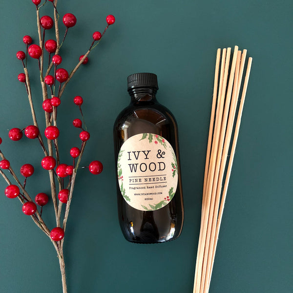 Pine Needle Limited Edition Christmas Reed Diffuser - Ivy & Wood - Australian Made