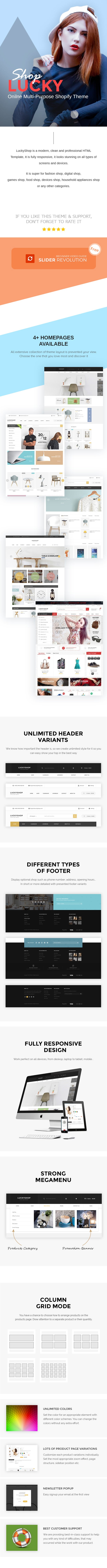 Lucky - Multipurpose Responsive Shopify Theme
