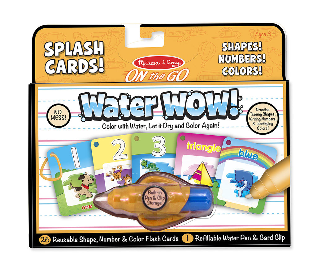 Water Wow! Splash Cards On the Go Shapes! Numbers! Colors!