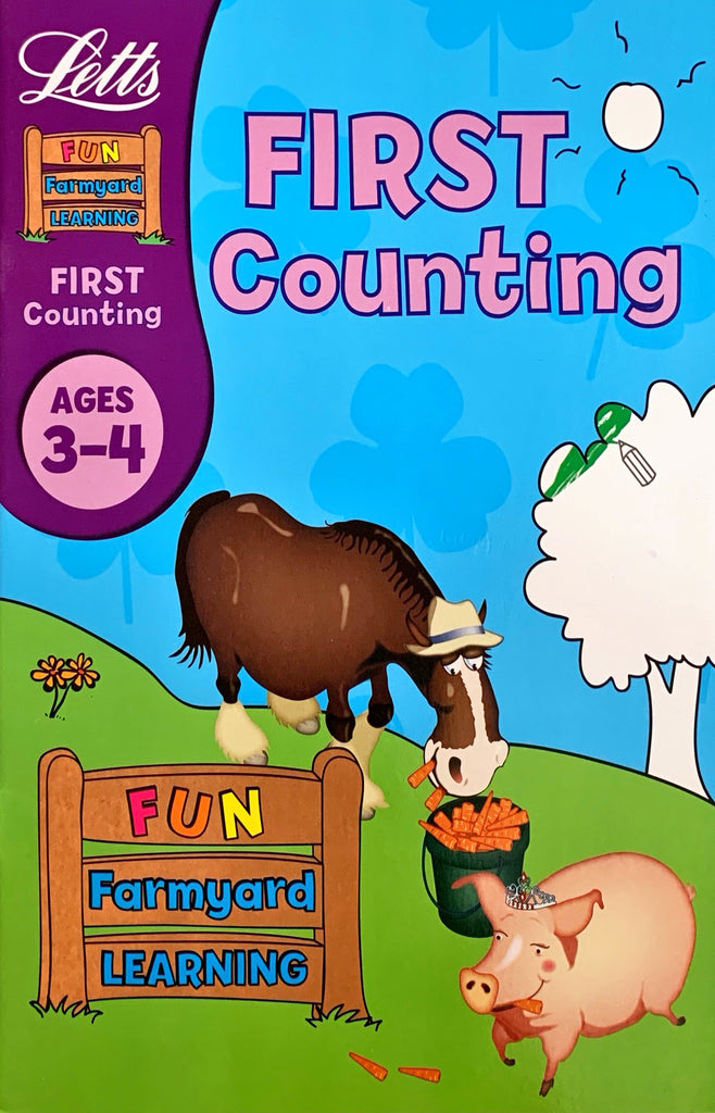Letts Fun Farmyard Learning : First Counting  Age 3-4