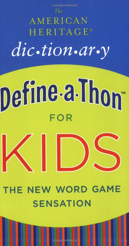 American Heritage Dictionary Define A Thon For Kid